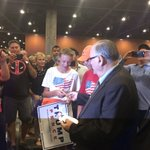 Sherif Joe Arpaio working the crowd early at Trump rally in Phoenix, handing out these cards https://t.co/4wh20doAff