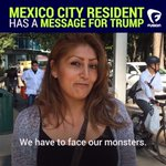 """""""Trump doesnt recognize...[Mexicans] intellect nor our culture."""" #TrumpEnMexico https://t.co/ryk6EHs4vK"""