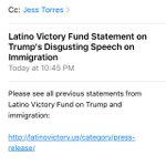 Read Latino Victory Funds statement on Trumps disgusting #immigration speech below #TrumpAZ https://t.co/yWH21TMqgd