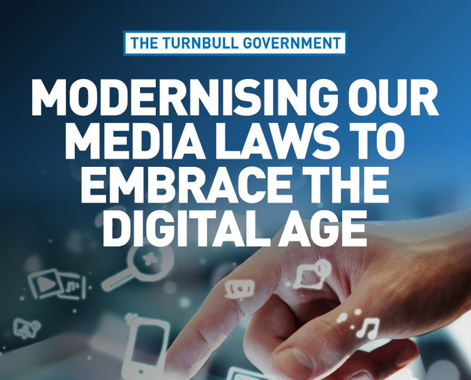 The Turnbull Government has reintroduced our media reform legislation https://t.co/Bp3f497Bqy #CommsAu https://t.co/eM9tHYWFSy