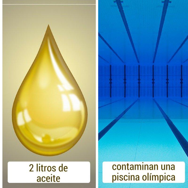 #Sabíasque... 2 litros de aceite industrial usado son suficientes para contaminar una piscina olímpica #Recicla https://t.co/HMDRgx4RPn
