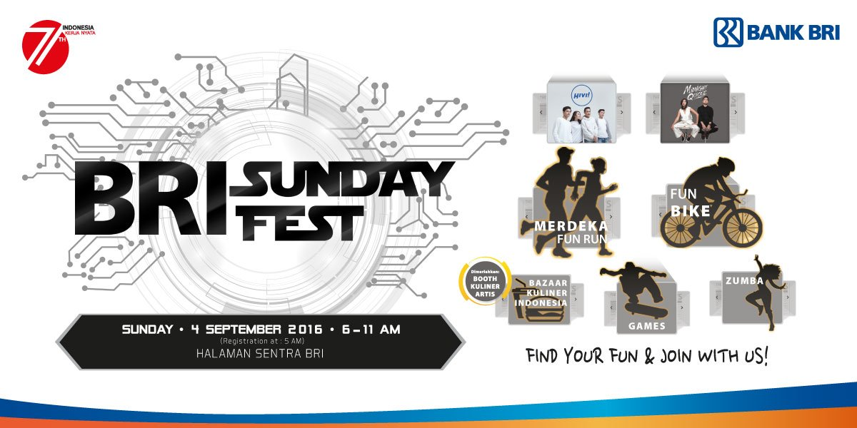 Ikuti Fun Run & Fun Bike berhadiah menarik di #BRISundayFest ! Klik https://t.co/ErG4cz5xkg https://t.co/kDxUZRf807