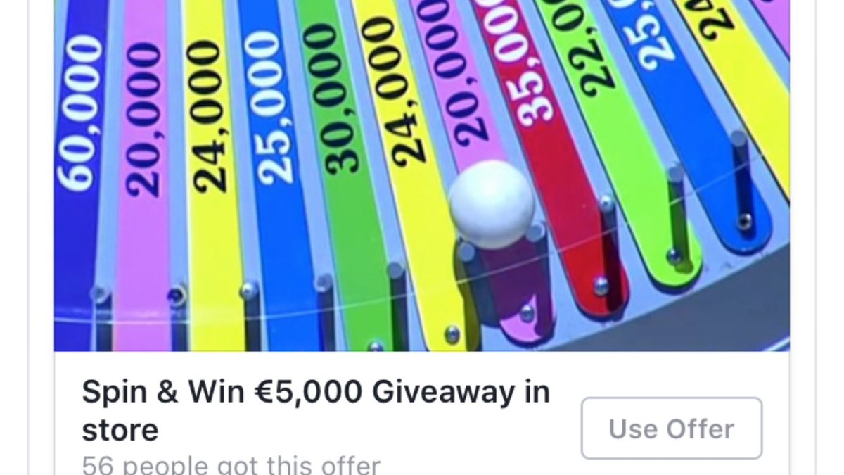 Fancy winning a share of €5,000! Shop with us now and you could be spinning the wheel on Sat 10th https://t.co/wuZRrTZZm0