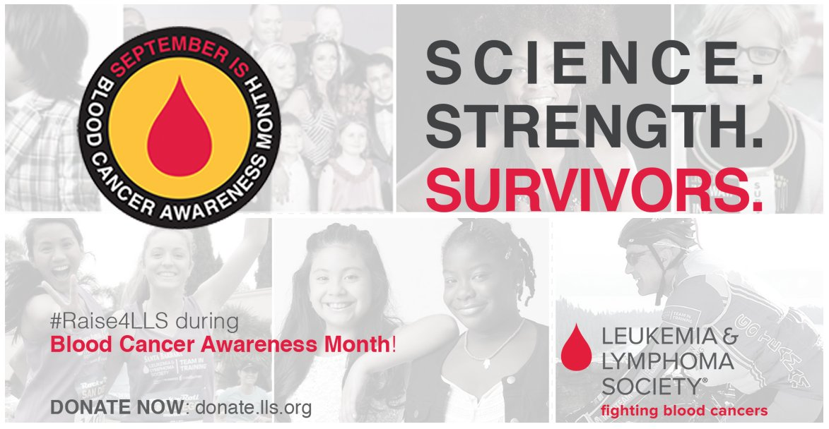 Science, Strength, and Survivors. Help us kick-off Blood Cancer Awareness month & #Raise4LLS https://t.co/8Vy2vkQpgn https://t.co/L7382ctRgL