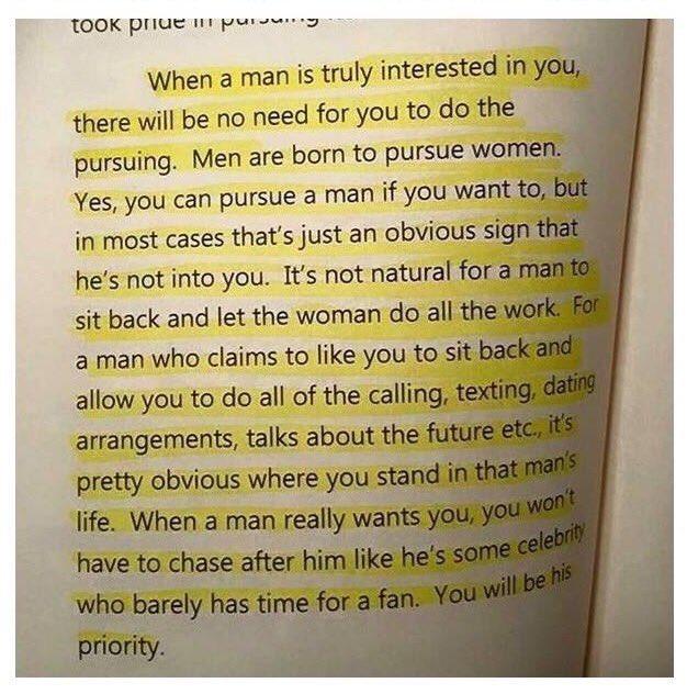 Let it sink in ladies