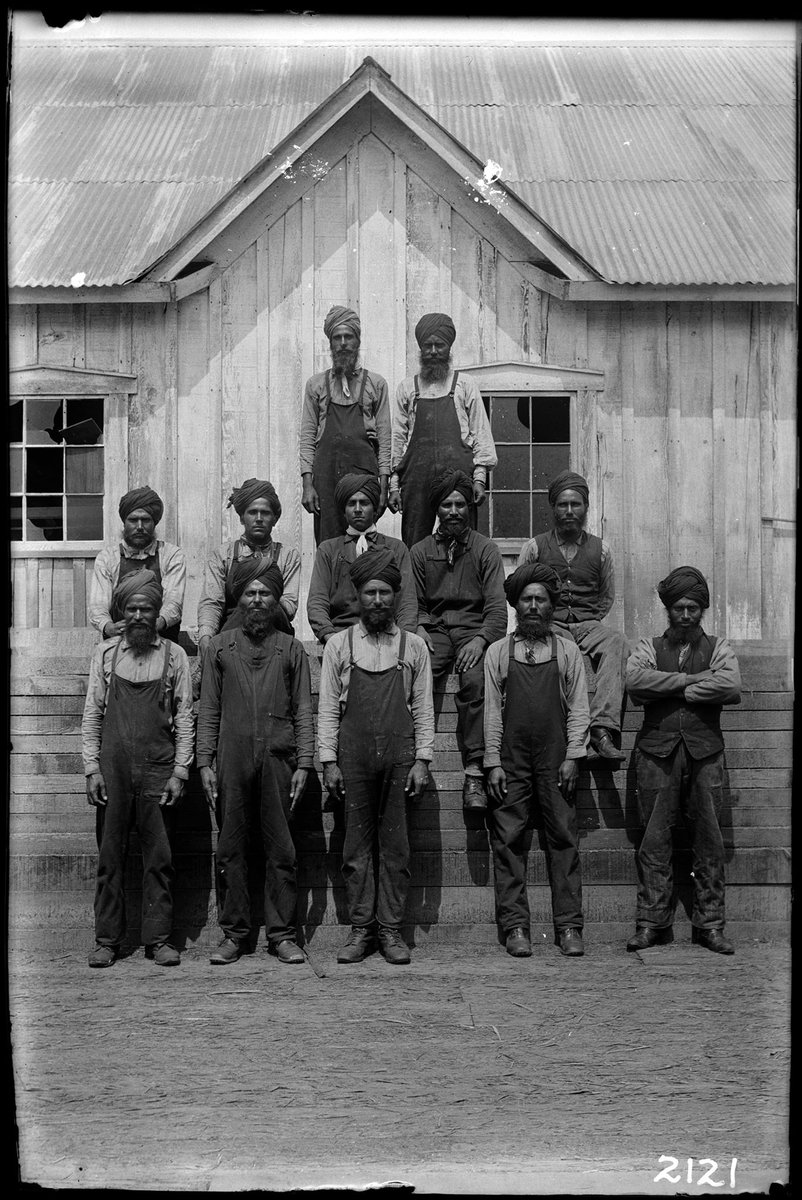Sikh sawmill workers at Barnet. Photo by Philip Timms, 190?, VPL 7641 #tbt #labourday https://t.co/nYZeYtvgHw