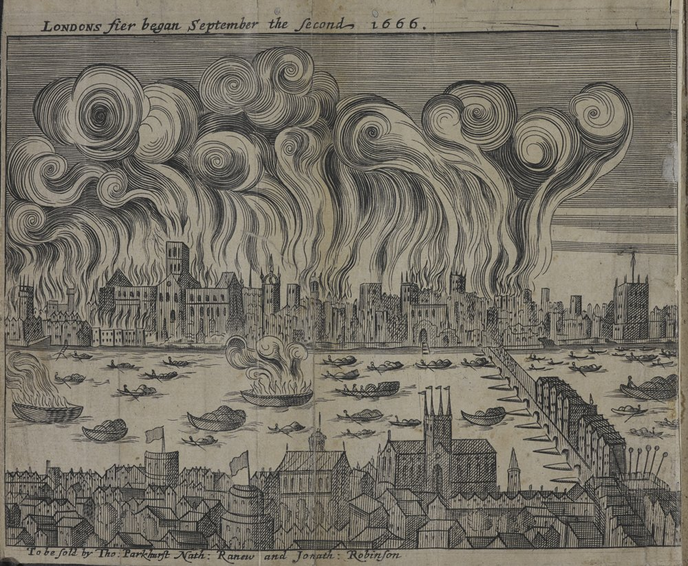 The #GreatFireofLondon broke out #onthisday in 1666. It would destroy 373 acres of the city in its four-day rage. https://t.co/xB3I6dxNGq
