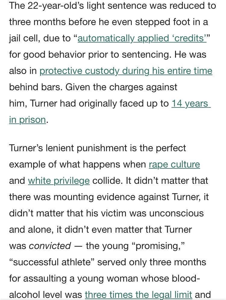 Brock Turner gets out of jail 2morrow after 3 months. Tonight I ask you to re-read the letter written by the victim. https://t.co/ZYHN4zk5cg