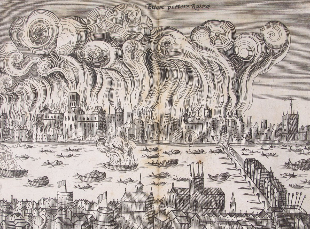 The #greatfireoflondon began #OTD in 1666 - read more on our #specialcollections blog https://t.co/qSvCpcQE3T https://t.co/3tScLNYF7y