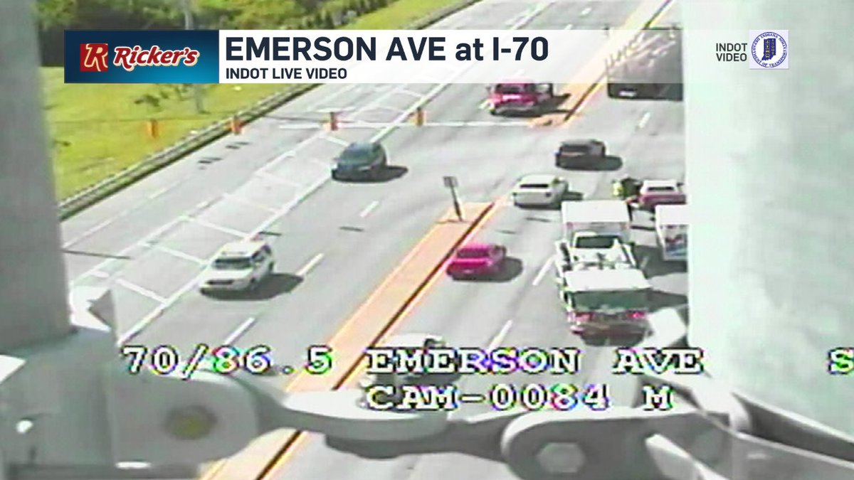 traffic alert: accident with injury on emerson ave at i-70. one lane ...