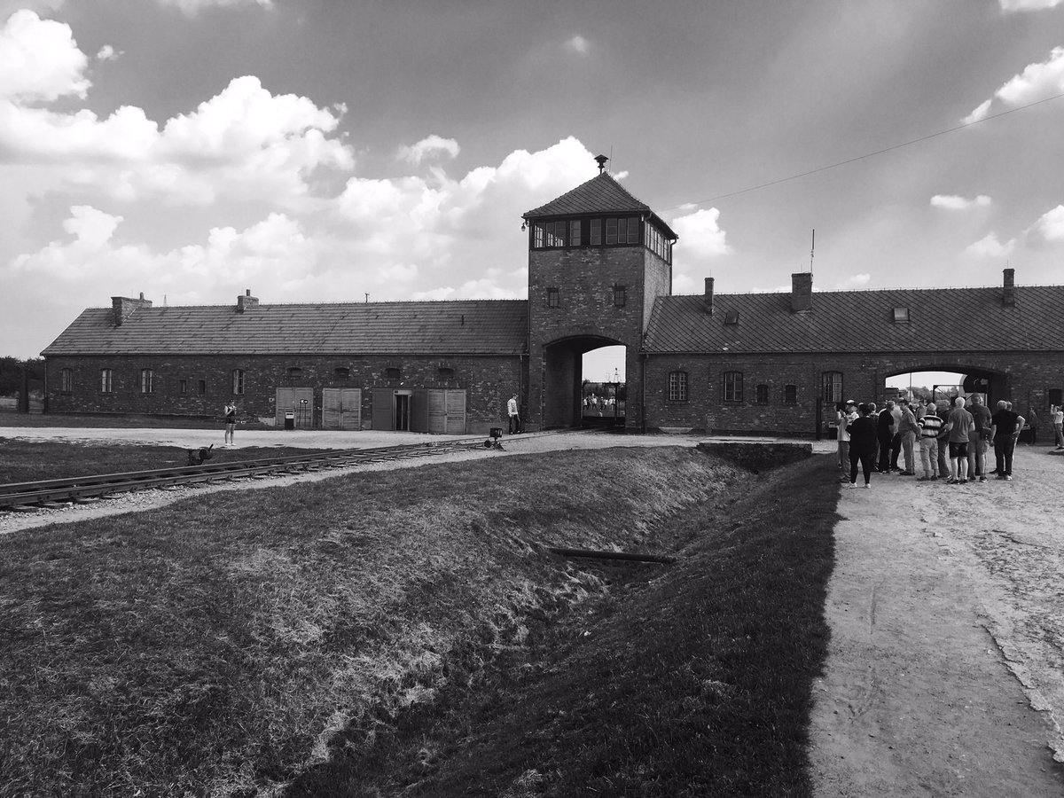Visited Auschwitz today. These four photos I took explain more than a million words could, pure evil! All original https://t.co/t21Z8N20vT