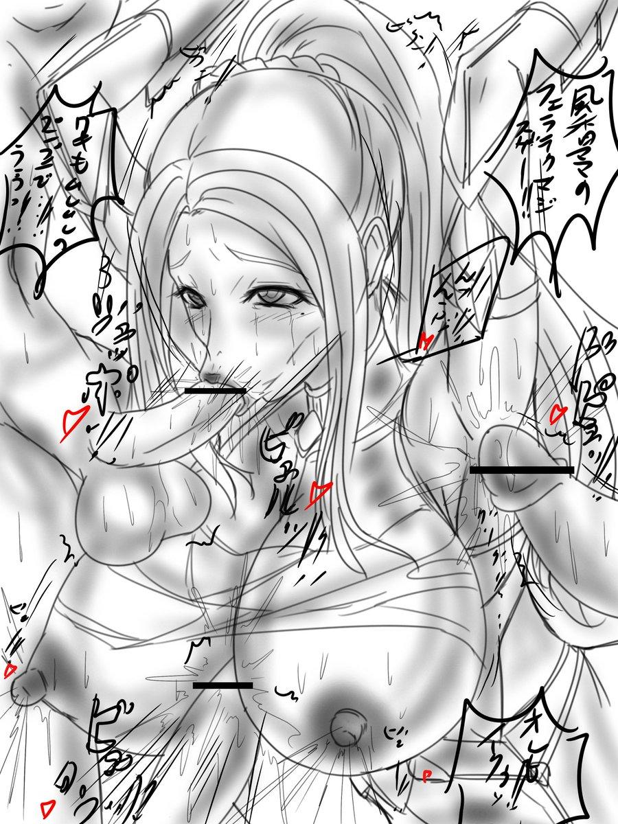 ブレイブビーツの風香ママンを対魔忍コスにしよう計画の時に描いたやつ、画力が足りなくて断念…(。´Д⊂)