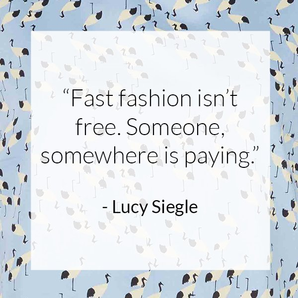 Some slow fashion motivation from the brilliant @lucysiegle. Happy Friday! https://t.co/Nlq0OdEs1D