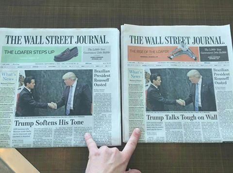 . @WSJ Would you care to comment on the decision to publish the same article w/2 very different headlines? https://t.co/jmSqy96XYQ