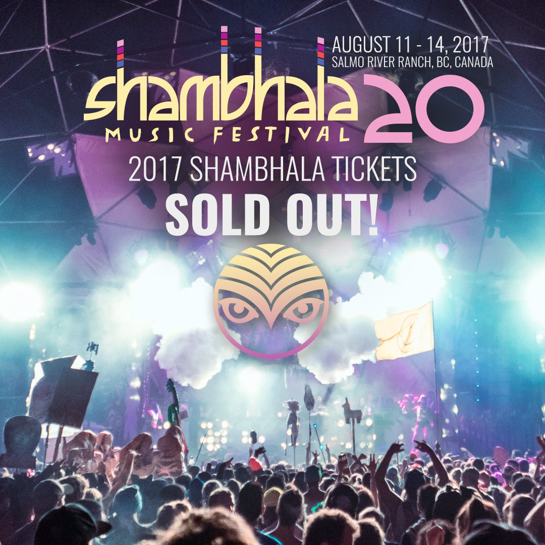 Shambhala 2017 just sold out in less than 24 hours! We are blown away. Thanks so much to all of our beautiful fans! https://t.co/8JtCj7Ie8a