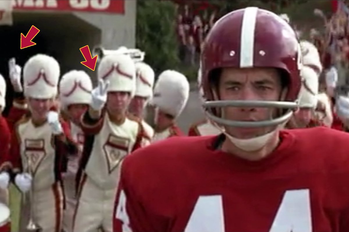 """#tbt This is how you know it's us playing the Alabama band in """"Forrest Gump"""" and not the real Million Dollar Band. https://t.co/T1ReDLdnmN"""