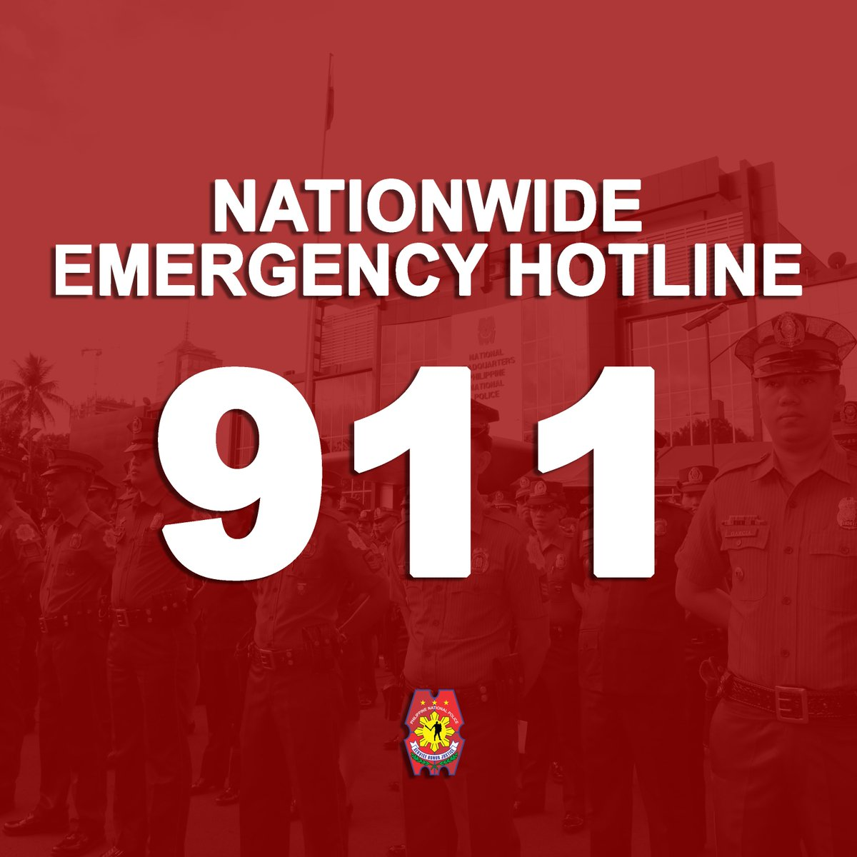 Any information may be reported thru the nationwide emergency hotline 911 for immediate police assistance. https://t.co/QQVynWsXxA