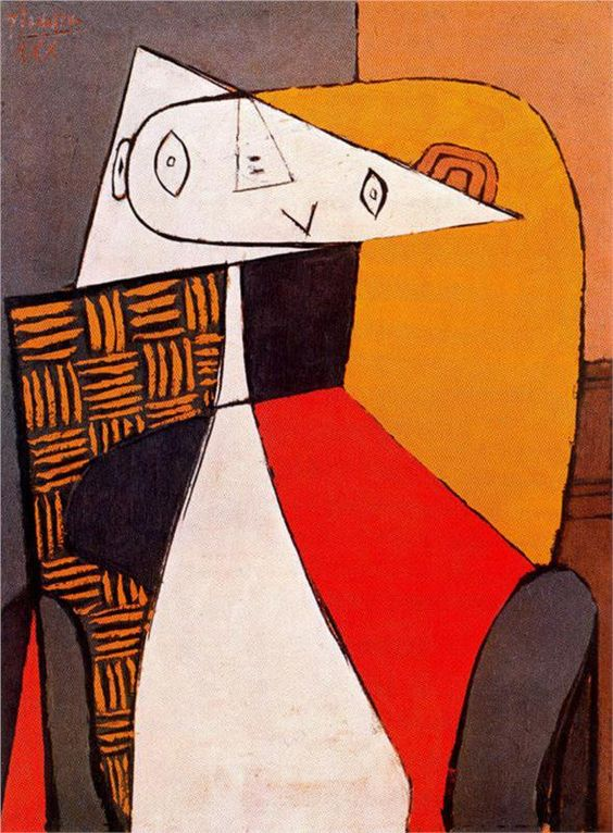 """Pablo Picasso - """"Seated Woman"""" 1930 https://t.co/5OTrXCn0By"""