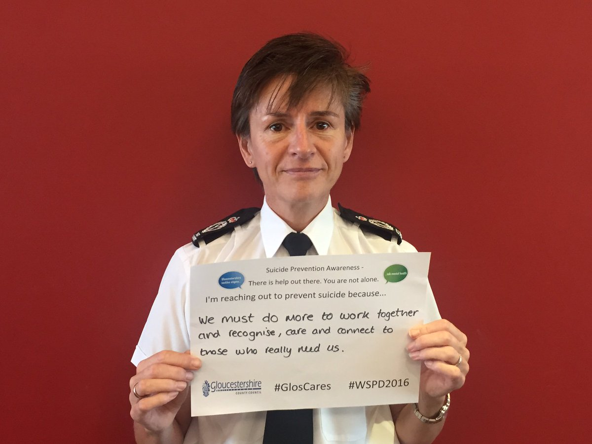 .@ChiefGlosPolice wants everyone to work together to reduce suicide in the county @Glos_Police #WSPD2016 #GlosCares https://t.co/a68Xw3c7wY