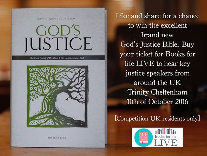 Retweet for a chance to win the amazing 'God's Justice BIble.'  Check out the line-up for https://t.co/QdVRICLQIC https://t.co/KH8sXSosBr