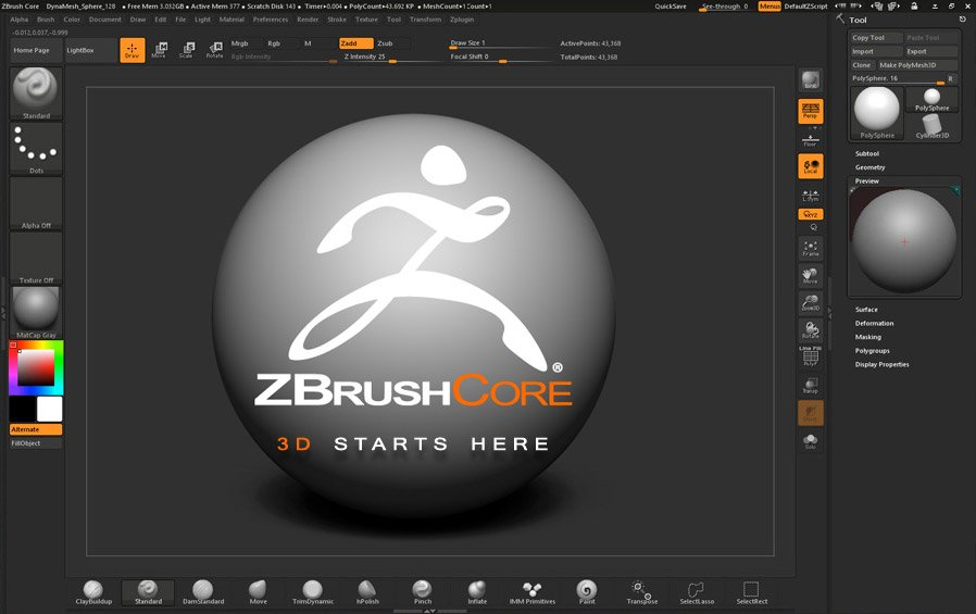 We are pleased to announce ZBrushCore, a 3D sculpting & painting application for all artists https://t.co/KFtyrWvKc0 https://t.co/IJXdiFKXHR