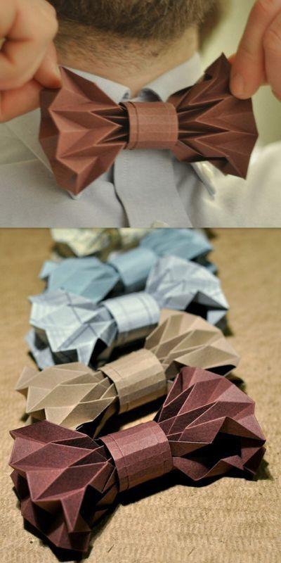 Как сделать бабочку на шею из бумаги