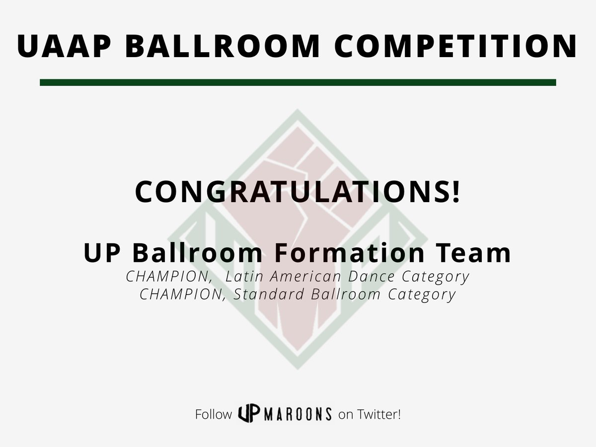 TWO CHAMPIONSHIPS TO START THE SEASON! Congratulations, UP Ballroom Formation Team! #UPFIGHT https://t.co/FpZwEBu1iV