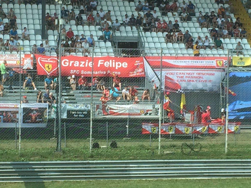 Once Ferrari, always Ferrari ❤️ Support for Massa among gathering Tifosi ahead of his final #ItalianGP qualifying https://t.co/bGF3a4YOkC