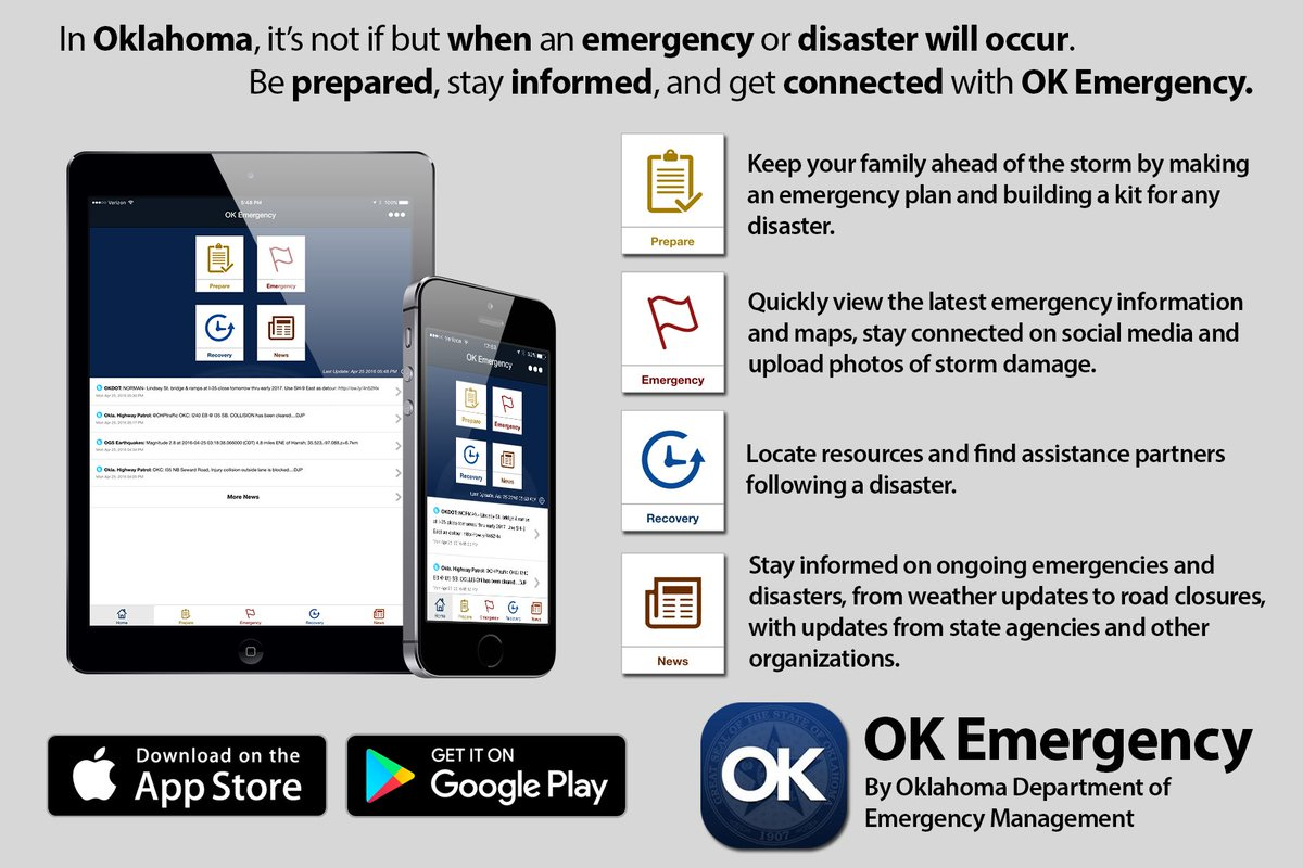 You can send your #okquake damage pics straight to @okem with the OK Emergency mobile app. https://t.co/viWjNxqafs
