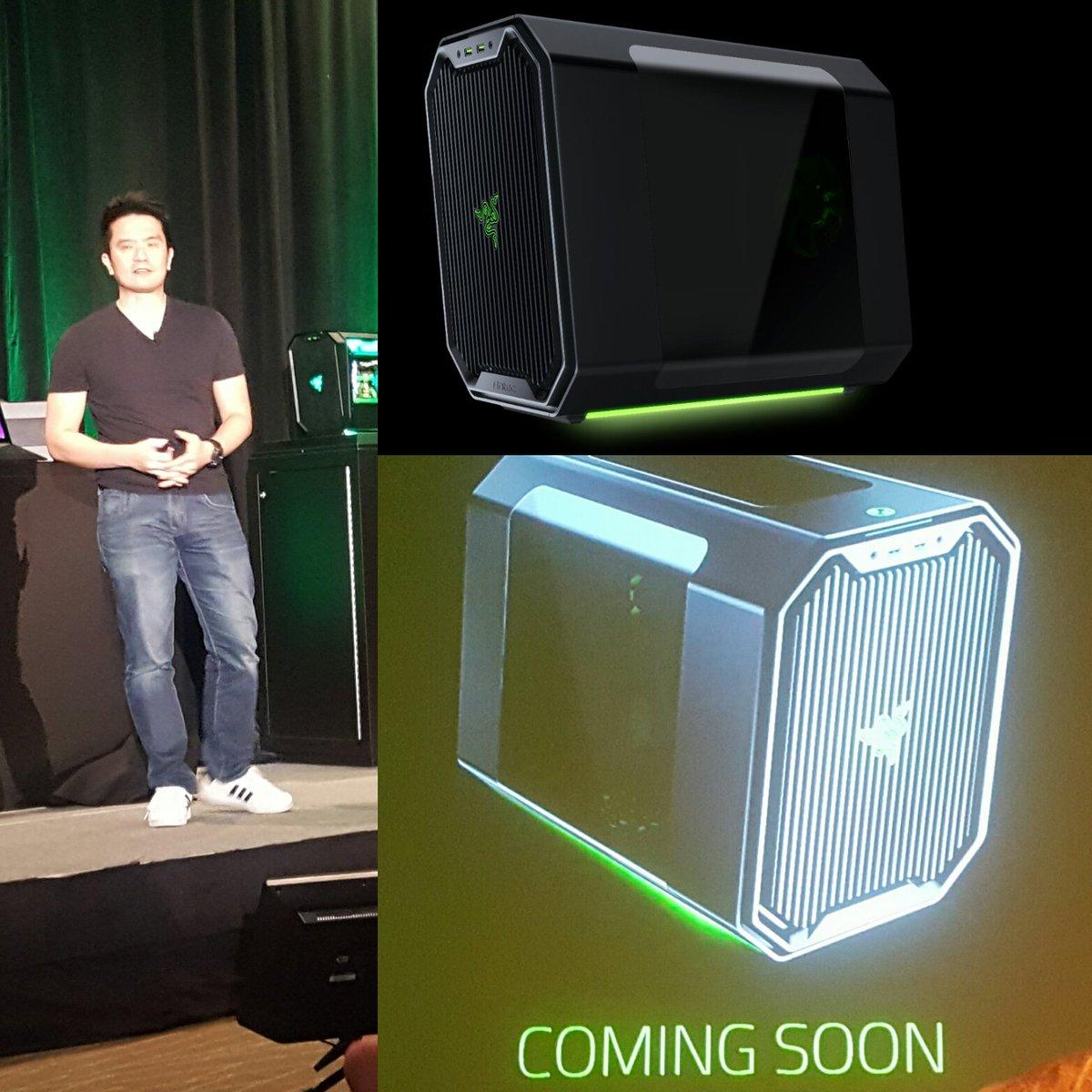 @minliangtan unveils the Antec Cube-- Designed by Razer #antecPAX #razerPAX https://t.co/2xYOt1NhLS https://t.co/Jg1FfJcCx6