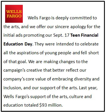 We offer our sincere apology for the initial ads promoting our Sept. 17 Teen Financial Education Day. https://t.co/1QgFupxN3j