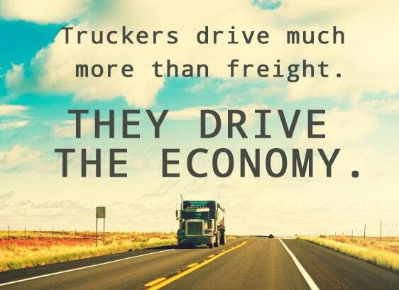 Truckers drive much more than Freight , they drive the economy #thankatrucker #economy https://t.co/IhJvJpUYFw
