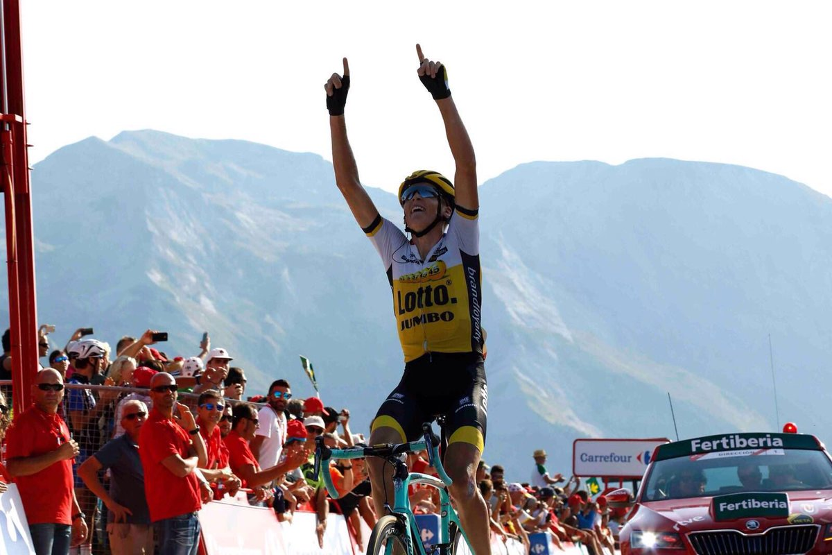What a day! No words. So happy with the win @lavuelta!!! For family, friends and all who have always supported me!