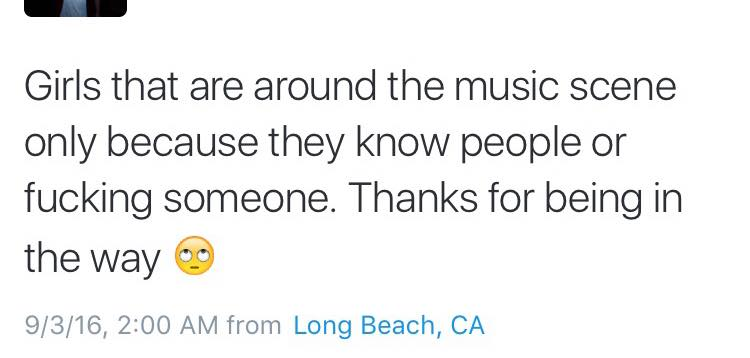 .@zachburnsphoto tweeted this but quickly deleted it. We don't need people like this in the music scene. https://t.co/nBdUHr3rh8
