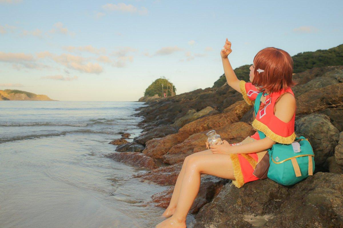 【翠星のガルガンティア】この海も 空も 全てが宝物エイミー:れいな撮影&レタッチ:及川さん(@01ch_sato