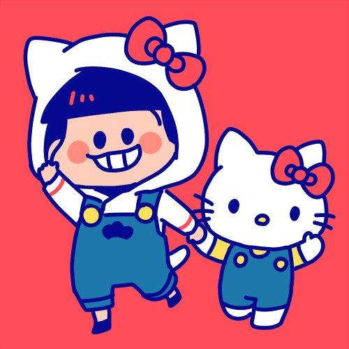 サンリオ松描いたーと言っても兄さんだけー!なによりキティさんが上手く描けて満足。