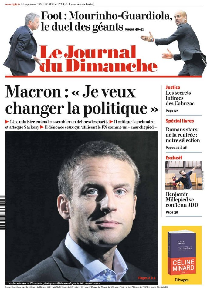 macron je veux changer la politique une journal du dimanche jdd. Black Bedroom Furniture Sets. Home Design Ideas