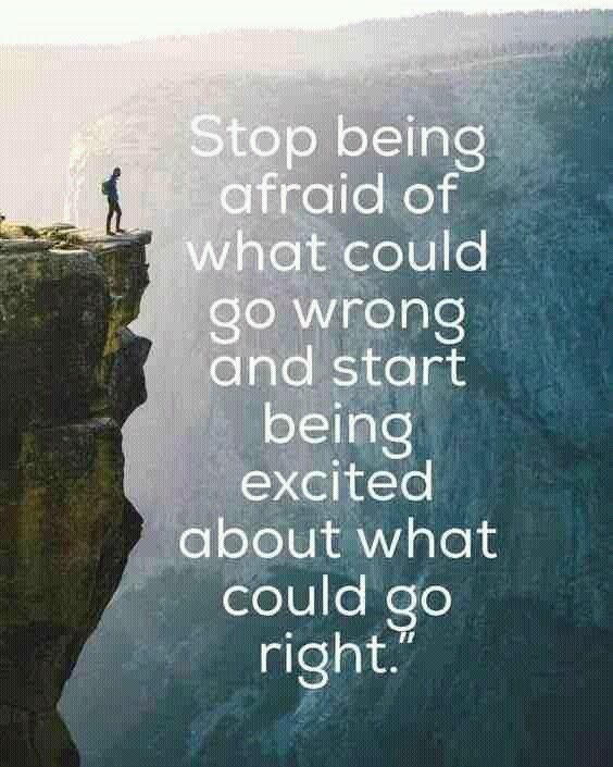 Stop being afraid of what could go wrong,   be excited about what could go right! #ThinkBIGSundayWithMarsha https://t.co/xp5msV5giJ