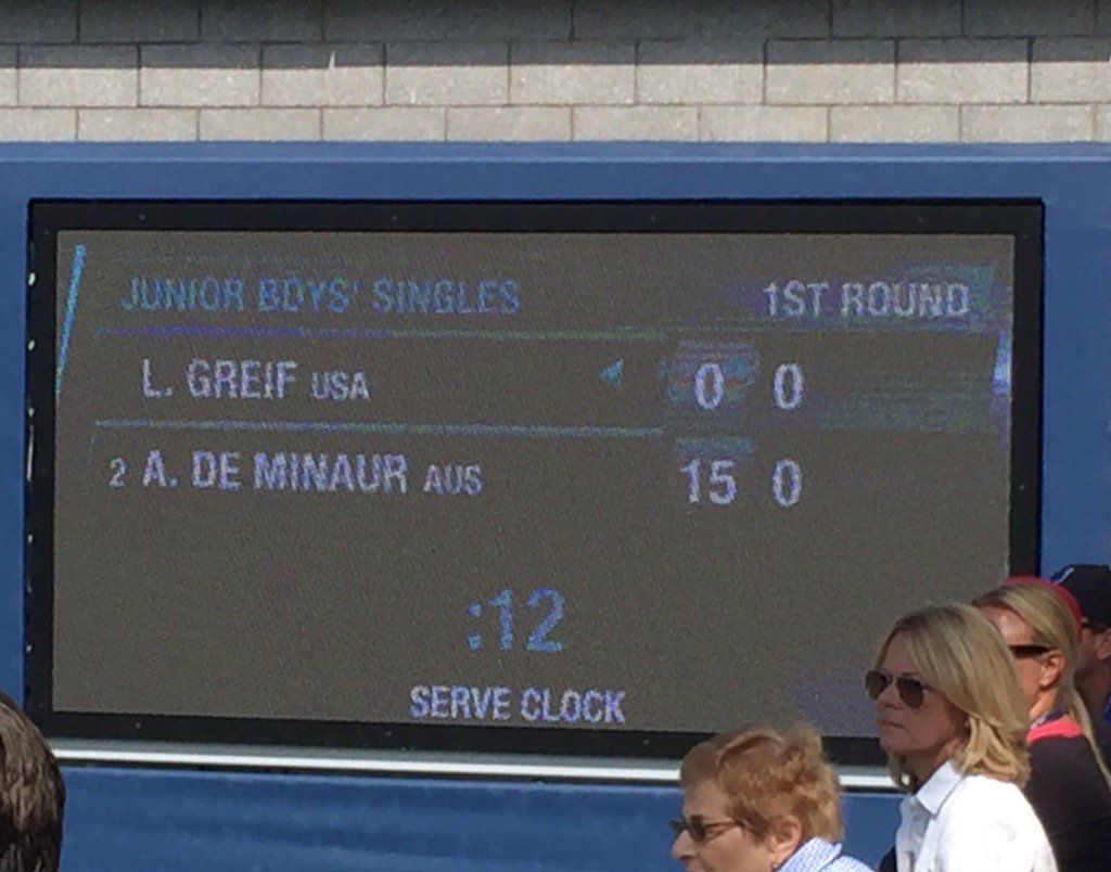 And the serve shot clock experiment is underway #usopen https://t.co/YQOmvKDmou