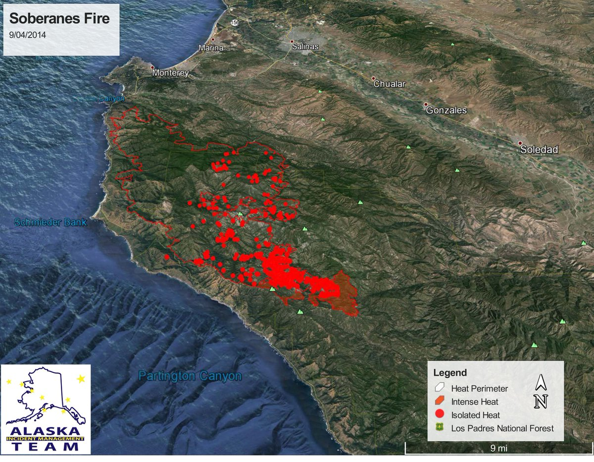 Breaking News On Soberanes Fire In Monterey County Calif July - Us counties google earth