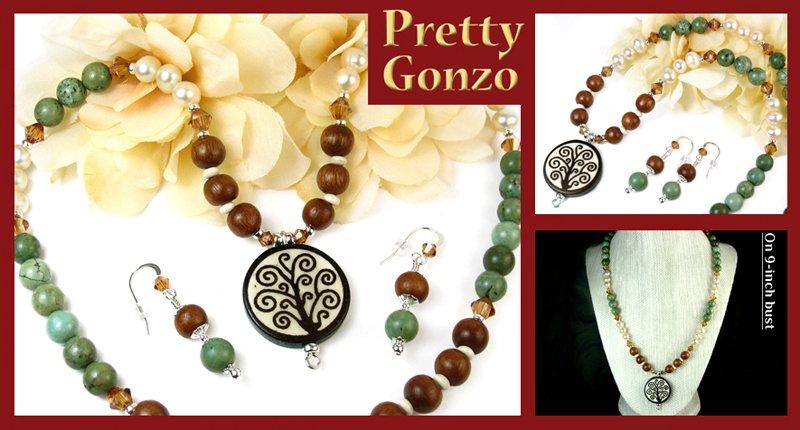 Earthy #Tree of Life #handmade #necklace #earrings set by #PrettyGonzo #Jewelry https://t.co/f3sctNN0pV #giftideas https://t.co/AHsIaCjWrM