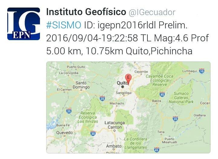 Informe preliminar de @IGecuador #Sismo #Temblor 4,6 en #Quito  Recomendaciones en https://t.co/rcGqq6U56c https://t.co/urQJKXtoEf