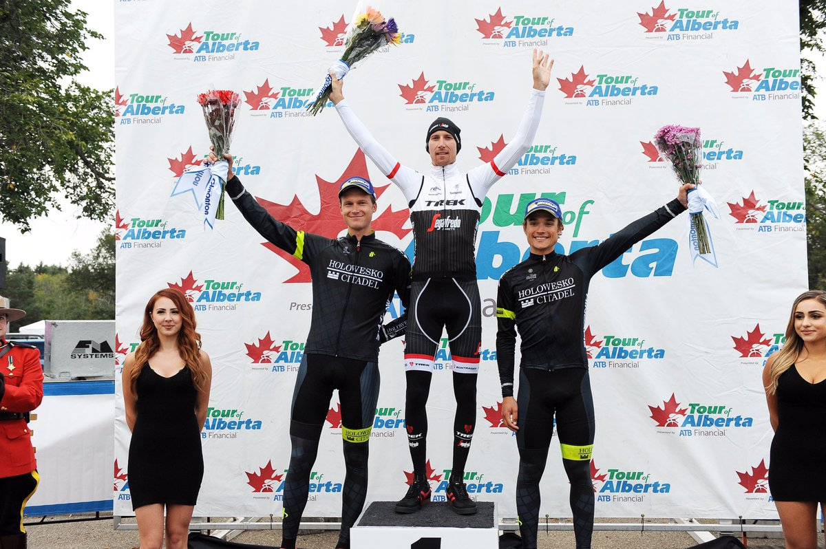 Incredible day for us stage 4 @TourOfAlberta 2nd @A_Flaksis & @RobinmCarpenter 3rd as well as leading GC! https://t.co/hotihhtvma