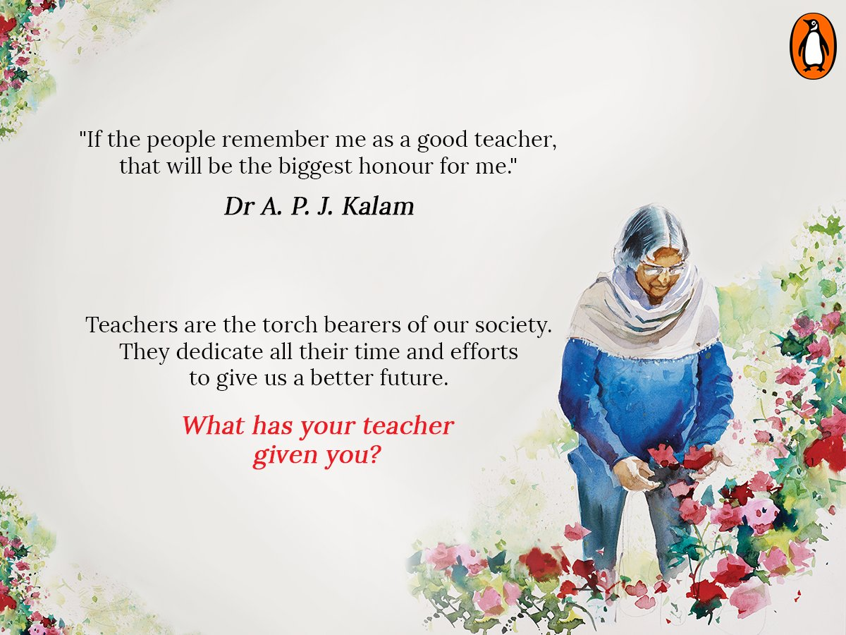 Our most beloved teacher-Dr Kalam gave us a vision to follow Tell us what your teachers have given you? #TeachersDay https://t.co/PN5Ne4K75Z
