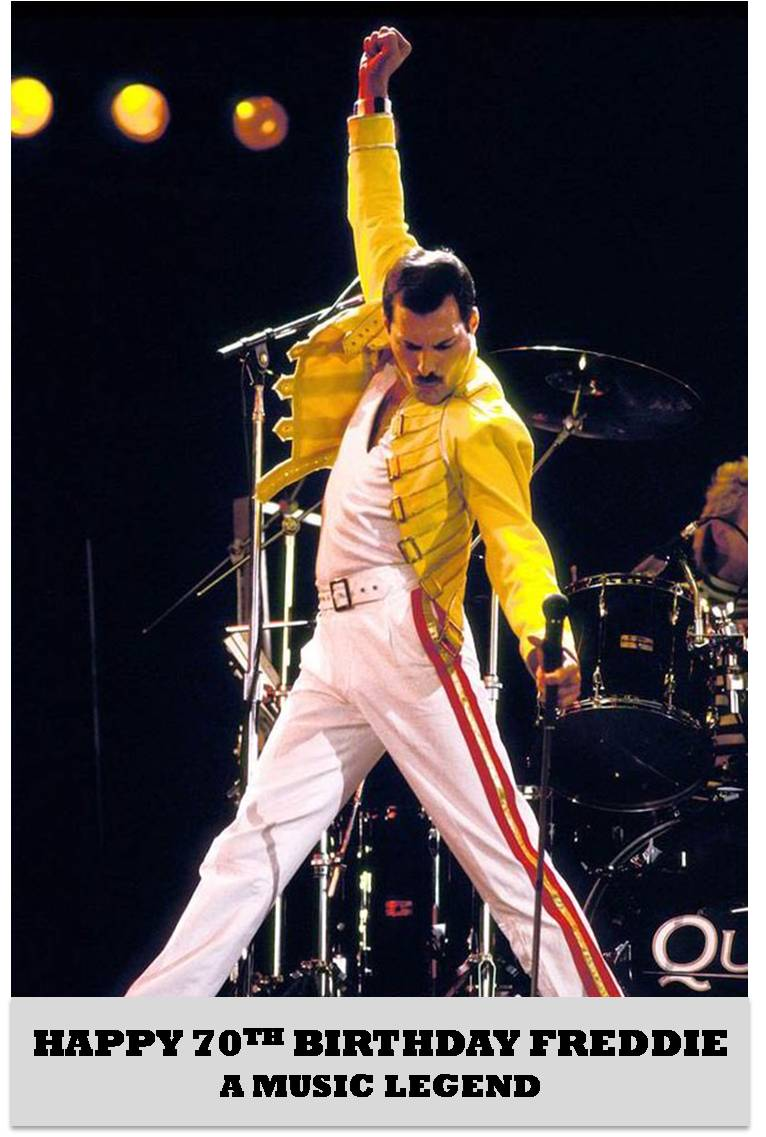 Remembering a total music legend...Happy Birthday Freddie Mercury who would have been 70 today #freddie70 https://t.co/pBcWCyHt06