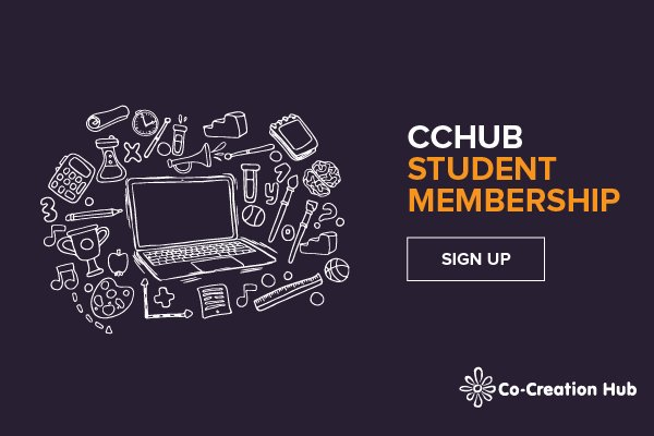 Are you a student? Sign up to become @Cc_HUB student member and let's build great things together. Ask @Cc_HUB! https://t.co/wRe0AAuIHo