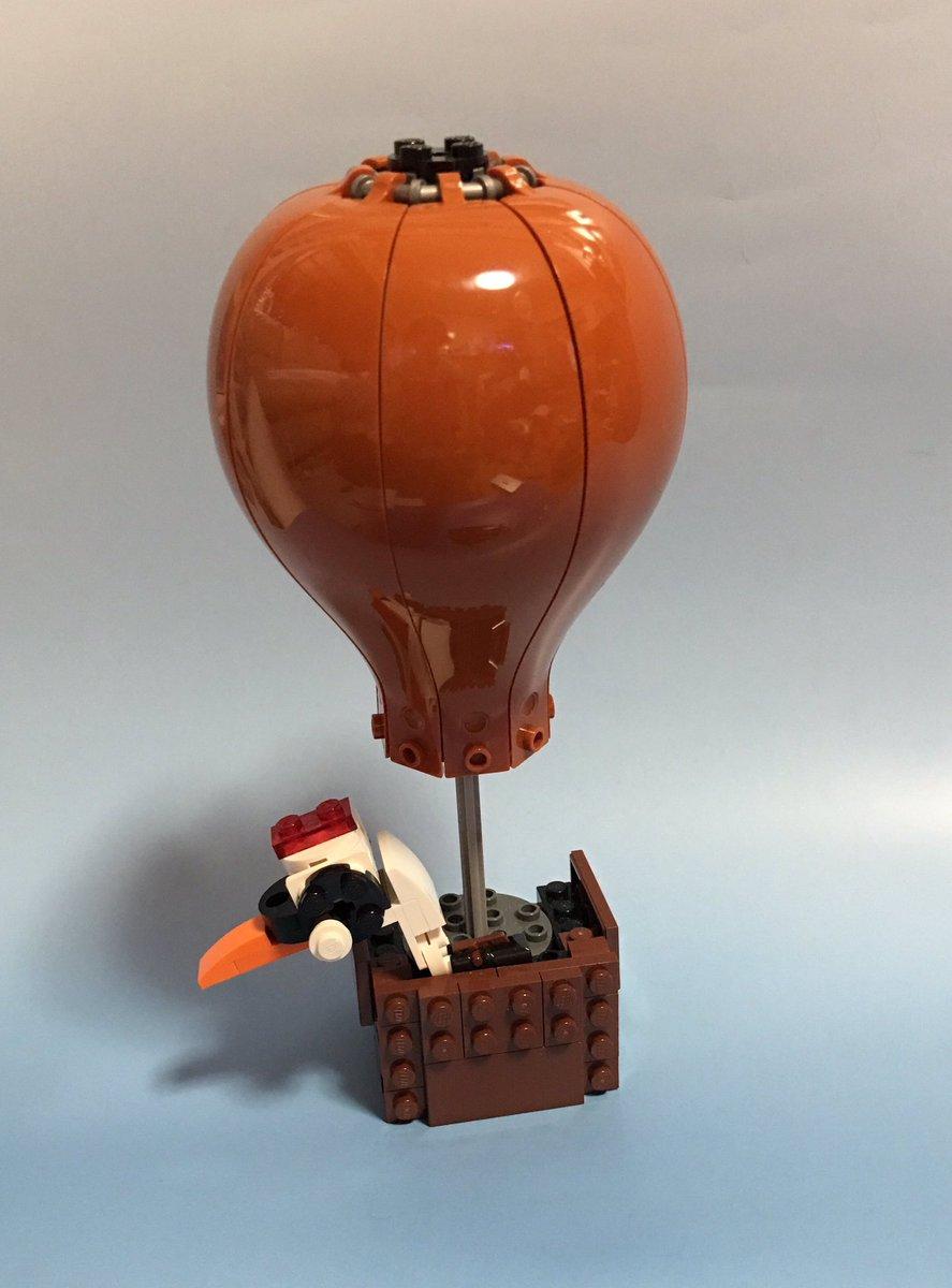レゴ 気球に乗る鶴(チビビルダーによる)レゴニンジャゴー70603(ドゥブルーンのツェッペリン飛行船)を組み替えてみまし