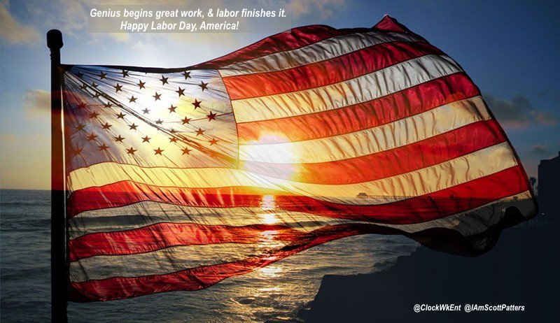 Genius begins great work, & labor finishes it. #HappyLaborDay, #America! https://t.co/bXrFgc6kgR