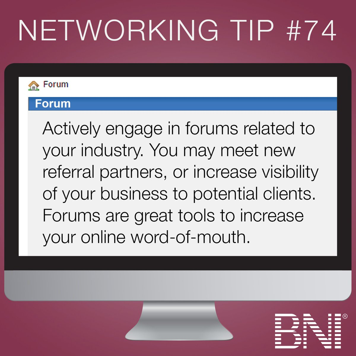 Take your networking online, and get involved with a forum. You never know what success it may bring. https://t.co/MINZbVehLw