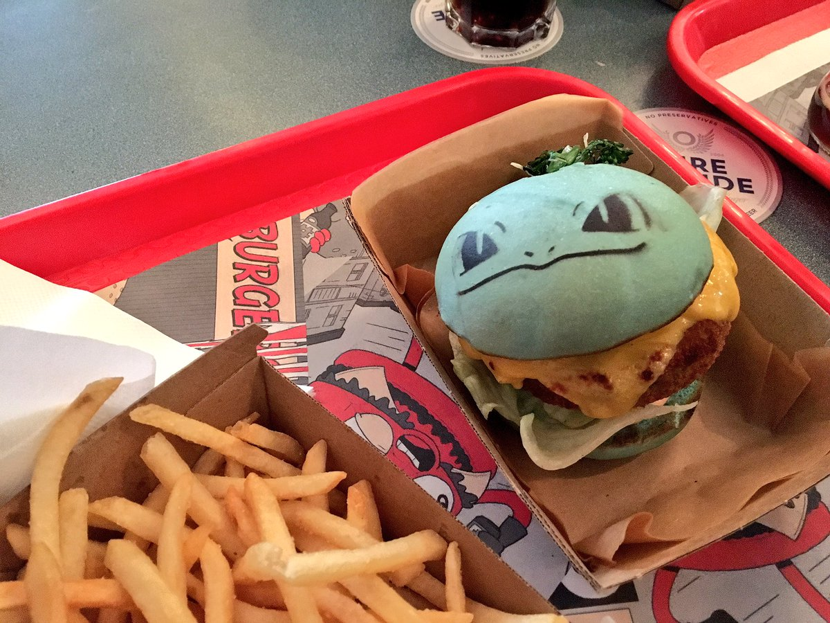 They had a Pokemon veggie burger at Down and Out!